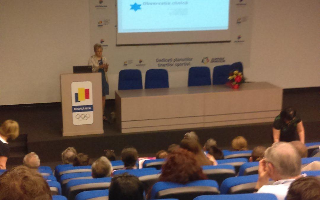a XXV-a Conferinta Nationala de Medicina Sportiva.